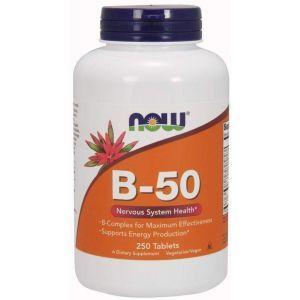 Витамины В-50, комплекс, Now Foods, 250 таблет