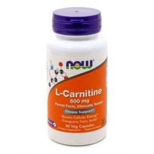 L-карнитин тартрат, L-Carnitine, Now Foods, 500 мг 60 ка