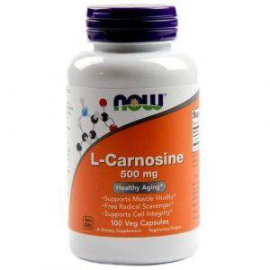 Карнозин, L-Carnosine, Now Foods, 500 мг, 100 капс