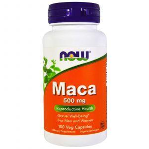 Мака (Maca), Now Foods, 500 мг, 100 капсу
