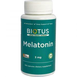 Мелатонин, Melatonin, Biotus, 3 мг, 100 капсул