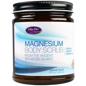 Скраб для тела с магнием, Magnesium Body Scrub, Life Flo Health, 266 мл