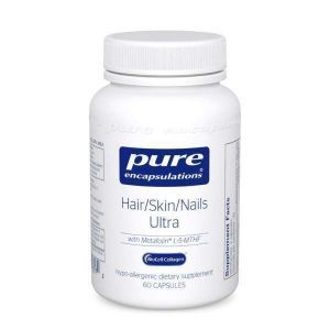 Формула для волос, кожи и ногтей, Hair/Skin/Nails Ultra, Pure Encapsulations, 60 капсул