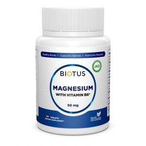 Магний и витамин В6, Magnesium with Vitamin B6, Biotus, 100 таблеток