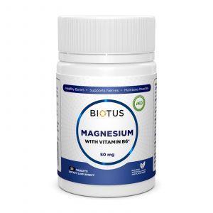 Магний и витамин В6, Magnesium with Vitamin B6, Biotus, 30 таблеток