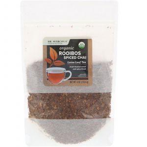 Чай ройбуш, Rooibos Spiced Chai, Dr. Mercola, листовой чай, 113,4 г
