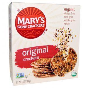 Оригинальные крекеры из цельного зерна (Original Crackers), Mary's Gone Crackers, 184 г.