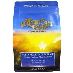 Кофе в зернах Коста-Рика, Whole Bean Coffee, Mt. Whitney Coffee Roasters, 340 г