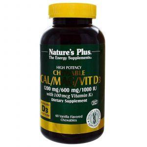 Жевательный кальций, Nature's Plus, 60 таблеток