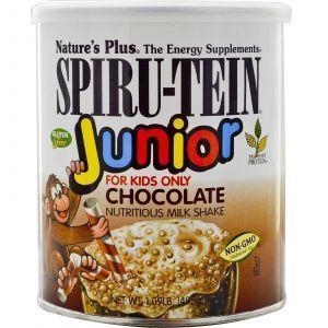 Молочный коктейль, Spiru-Tein Junior, Nature's Plus, 495 г