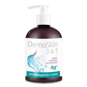 ДемоСкин, DemoSkin, Botanica, мыло 3 в 1, для лица и тела, при демодекозе и акне, 280 мл
