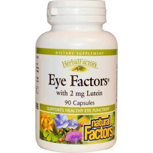Витамины для глаз с лютеином, Natural Factors, 90 капс.