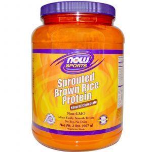 Протеин бурого риса (шоколад), Now Foods, 907 гр