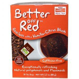 Чай ройбуш с ванилью, Now Foods, 24 пак.(48 г.)