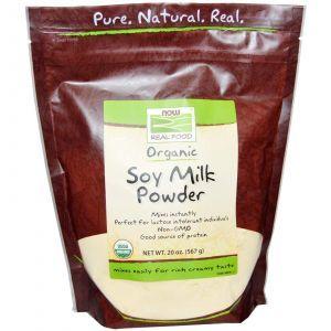 Органическое соевое молоко, Now Foods, 567г