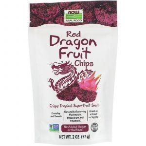 Фруктовые чипсы из питахайи, Red Dragon Fruit Chips, Now Foods, 57 г