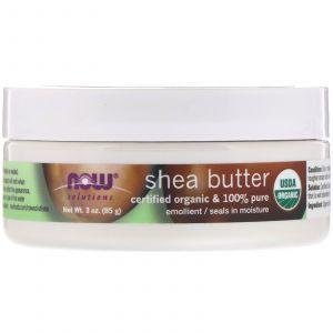 Масло ши, Shea Butter, Now Foods, органик, 85 г