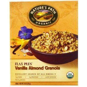 Гранола с семенами льна, с ванилью и миндалем, Granola Cereal, органик, Nature's Path, 325 г