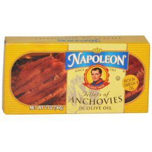 Филе анчоуса, Fillets of Anchovies, Napoleon Co., 56 г