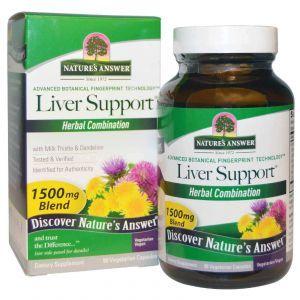 Поддержка печени, Nature's Answer, 1500 мг, 90 кап