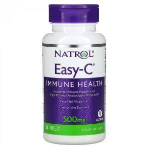 Витамин С, Easy-C, Natrol, 500 мг, 60 таблеток
