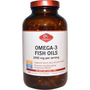 Омега-3 рыбий жир, Omega-3 Fish Oils, Olympian Labs Inc, 1000 мг, 240 капсул