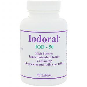 Йодорал, Iodoral, Optimox Corporation, 50 мг, 90 таблеток