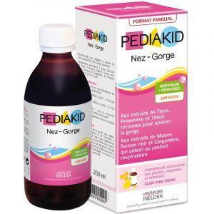 Сироп горло-нос для детей, Nose Throat Family Size, Pediakid, 250 мл
