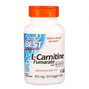 Л-карнитин фумарат, L-Carnitine Fumarate, Doctor's Best, 855 мг, 60 капсул