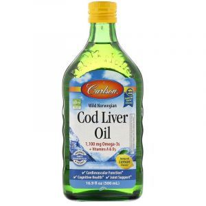 Рыбий жир из печени трески, Cod Liver Oil, Carlson Labs, лимон, норвежский, 500 мл
