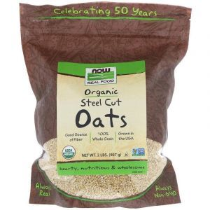 Необработанный овес, Oats, Now Foods, органик, 907 г