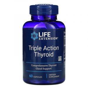 Поддержка щитовидной железы: тироид тройного действия (Thyroid), Life Extension, 60 кап.