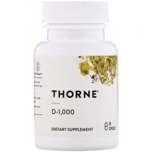 Витамин Д3, Vitamin D, Thorne Research, 1000 МЕ, 90 капсул
