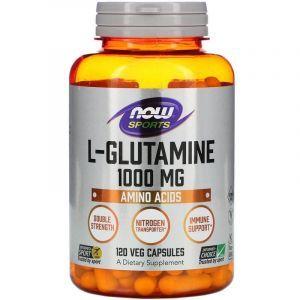 L- глютамин, Now Foods, 1000 мг, 120 капсул