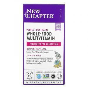 Мультивитаминный комплекс постнатальный, Postnatal MultiVitamin, New Chapter, 96 таблеток