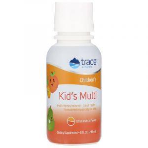 Витаминно-минеральный комплекс для детей (цитрусовый пунш), Kid's Multi, Trace Minerals Research, 237 мл
