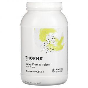 Сывороточный протеин изолят, Whey Protein Isolate, Thorne Research, ваниль, 837 г