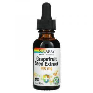Экстракт семян грейпфрута, Grapefruit Seed Extract, Solaray, 100 мг, 30 мл