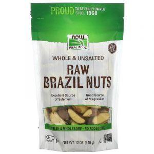 Бразильский орех, Brazil Nuts, Now Foods, сырой, 340