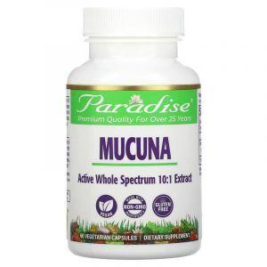 Мукуна, Mucuna, Paradise Herbs, 60 капсул (Default)