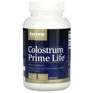 Молозиво, колострум, Colostrum, Jarrow Formulas, 400 мг, 120 капсул.