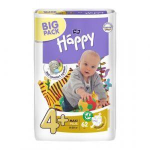 Подгузники Хеппи, Diapers Happy, Bella Baby, размер 4+ Maxi Plus, 9-20 кг, 62 шт