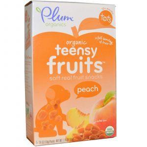 Мармелад для малышей с персиком, Tots, Teensy Fruits, Plum Organics, 5 пак.