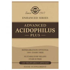Пробиотики, Advanced Acidophilus, Solgar, 120 капсул