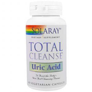 Очиститель мочевой кислоты, Total Cleanse, Solaray, 60 капс.