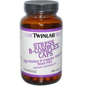 Витамины группы В (комплекс), Twinlab, 100 капсул (