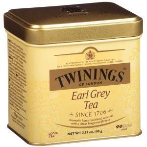 Чай Эрл Грей рассыпчатый, Earl Grey Loose Tea, Twinings, легкий, 100 г