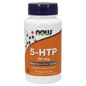 5-НТР, 5-гидрокси L-триптофан, Now Foods, 50 мг. 90 кап.