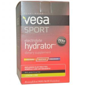 Электролиты (лимон, лайма), Vega, 30 пакетов, 4,4 г