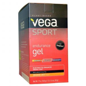 Электролиты (вкус апельсина), Vega, 12 пакетов, 45 г